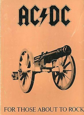 AC/DC 1982 For Those About To Rock Vintage Song Score Book Angus Young