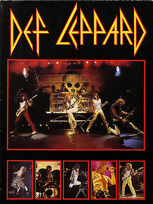 Def Leppard 1983 Original Fold Out Postergram Funky Enterprises