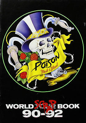 Poison 1990 Original Flesh & Blood World Scrap Book Tour Program
