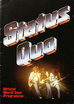 Status Quo 1979 Original If You Can't Stand The Heat World Tour Programme U.K.