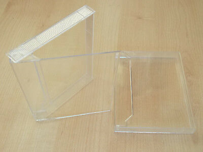 10  Audio cassette tape side/side double cases clear - for talking books