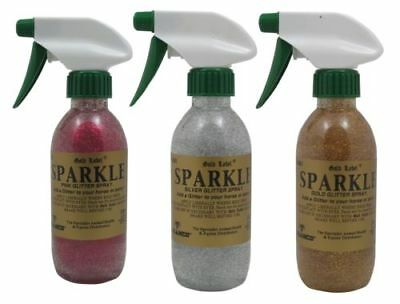Gold Label Glitter Sparkle Spray 250Ml Pink, Silver Or Gold For Horses Ponies