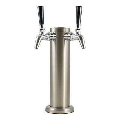 Double Stainless Steel Draft Tower with Chrome Intertap Faucets