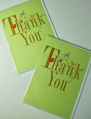 LARGER SIZE THANK YOU CARDS x12, JUST 25p! WRAPPED, FOILED, EMBOSSED (B299