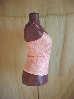 Nouvelle Camisole Top Peach Paisley Print NEW old stock Small
