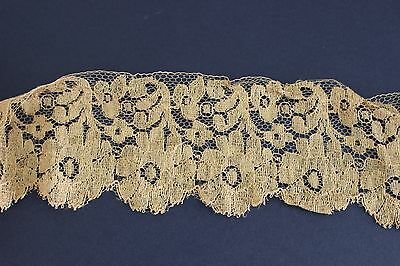 Over 5 Meters Antique Lace, Beautiful Vintage Copper/Gold Coloured 1920's Lace