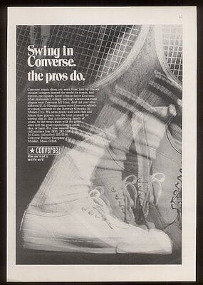 1969 Converse Jack Purcell tennis shoes photo vintage print ad