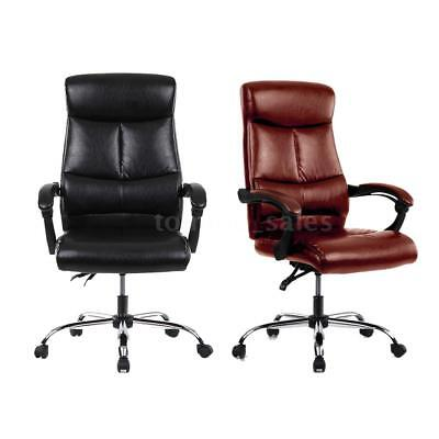 iKayaa Leather Executive Computer Office Chair 90-170°Recliner Home Office A1E7