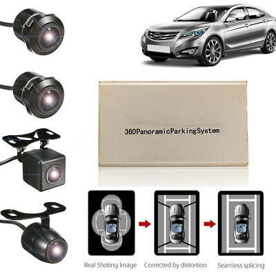 360° Panoramic Bird Full View HD 4 CCD Camera Car DVR Parking Recording System
