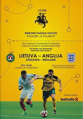 LITHUANIA v England (World Cup 2018 Qualifier) 2017