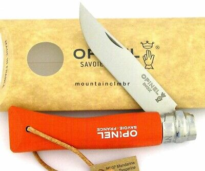 Opinel Trekking Tangerine Orange No 7 Locking Ring Stainless Steel Knife France