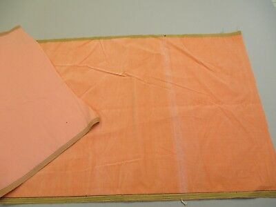 Antique velvet fabric Lyons France Victorian cotton silk Peach Pink