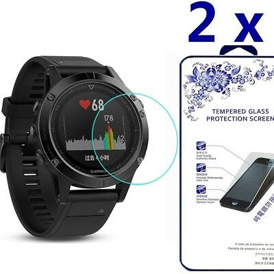 [2 Pack] For Garmin Fenix 5S Tempered Glass Screen Protector