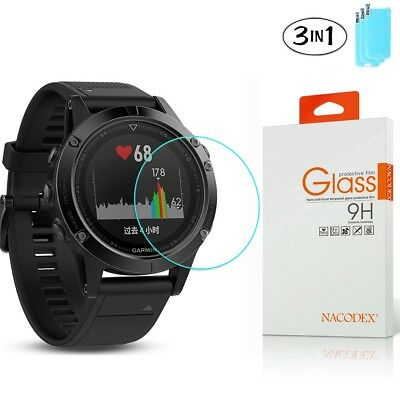 [3 Pack] Nacodex For Garmin Fenix 5S Tempered Glass Screen Protector