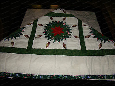 "Christmas Tree Quilt, Tablecloth (16377) Holiday Decor, 49"" x 60"""