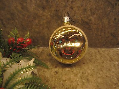 Vintage MAN IN THE MOON Germany Christmas Glass Ornament Sky Face Feather Tree