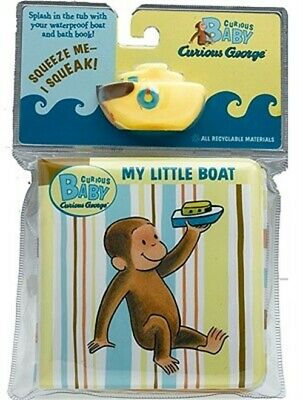 Curious Baby My Little Boat: Curious George Bath Book with Toy [With Boat] (Mixe