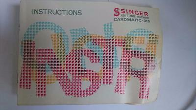 Singer Instruction Manual for Knitting Machine Model Cardmatic-313