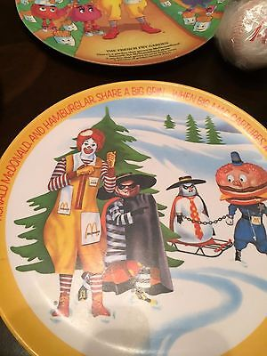 Mcdonald's Collectors Plate Ronald Mcdonald & Hamburgler