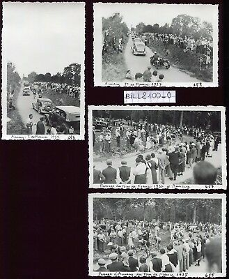 Annecy . lot de 4 photos . cyclisme. tour de France 1937