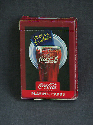 Vintage Coca Cola Visit Our Fountain Bicycle Brand Playing Cards