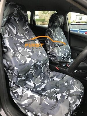 HEAVY DUTY BLACK /& GREY TRAX SEAT COVER SET for VAUXHALL ASTRA TWIN TOP 06-10