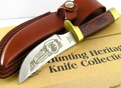 NAHC North American Hunting Club Trailing Point Skinner Knife Wood Handle