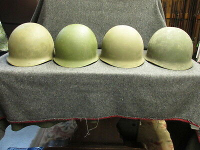 Lot Of 4 Original Us Military M1 Helmets