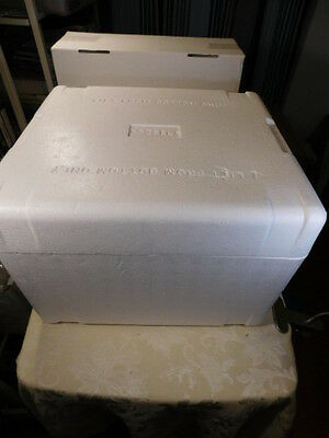 """ThermoSafe Styrofoam Insulated Shipping Box Cooler 15.5""""Lx14""""Dx11.5""""H OD"""