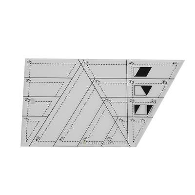 DIY Sewing Patchwork Scale Ruler Trapezoid Polygon Foot Ladder Tailor Craft Tool