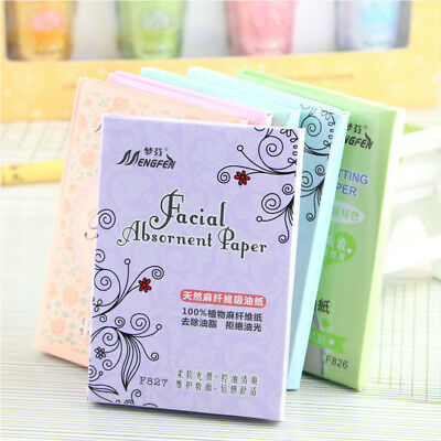 70 Facial Skin Oil Control Sheets Absorbing Tissue Face Blotting Paper Wipes