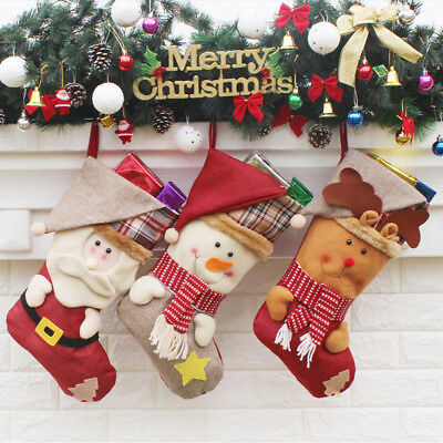 Personalised Christmas Stocking Holder 3D Xmas Socks to Hang Candy Gift Models