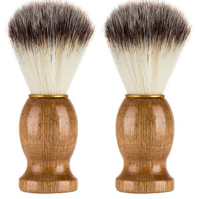 Pro Men Shaving Bear Brush Badger Hair Shave Wood Handle Razor Barber Tool New