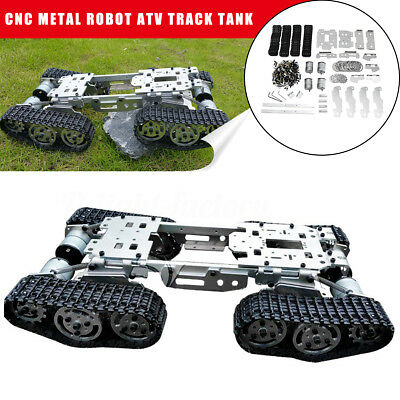 CNC Metal Robot Tank Chassis RC ATV Tracked Suspension Obstacle Crossing Crawler