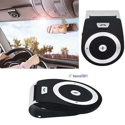 Stereo Bass Wireless Bluetooth Car Kit Speaker Handsfree For Iphone Samsung PN