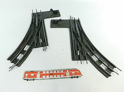 bb655-2 #2x Märklin 1 Gauge Manual Points 8ER/8 Circle for Electric Operated