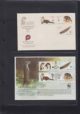 053051 WWF Otter DDR FDC First Day Cover + Card