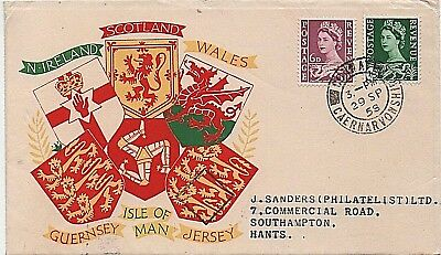 Wales 1958 6d + 1s3d illustrated First Day Cover