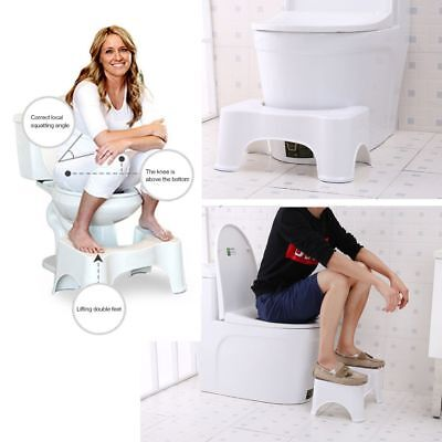 "7""/8.5"" Sit and Squat Squatty Potty Eco Toilet Bathroom Stool Healthy Colon CA"