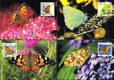 053136 WWF Schmetterlinge Butterfly Eire Irland Maximum Card ´s