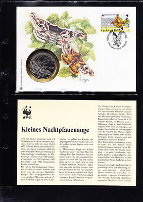 053184 Numisbrief Coin ´s Letter WWF Schmetterlinge Butterfly Guernsey