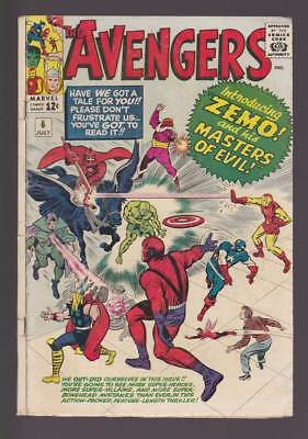 Avengers # 6 Masters of Evil ! grade 3.0 scarce book !!