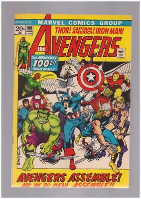 Avengers # 100 Whatever Gods There Be ! grade 8.0 scarce book !!