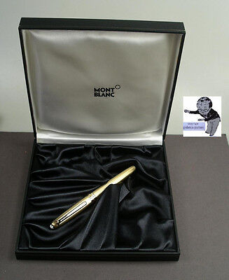 #Montblanc Master Piece Solitaire Fountain Pen Model 144 Gold Plated #