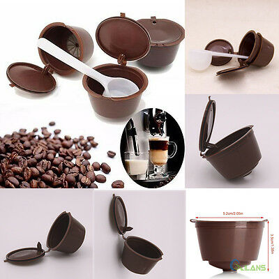 4pcs Reusable Refillable Coffee Capsule Pod Cup For Nescafe Dolce Gusto Holder