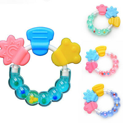 1PC Newborn Baby Teether Molar Rod Fruit Food Silicone Teethers Rattles Toys