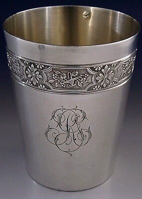 STUNNING FRENCH STERLING SILVER BEAKER c1900-10 ANTIQUE FRANCE 89g