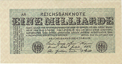 1923 1 Billion Mark Germany Currency Reichsbanknote German Banknote Note Bill Au