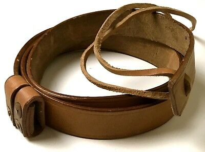 Wwi Wwii British Smle Enfield Rifle Leather Carry Sling