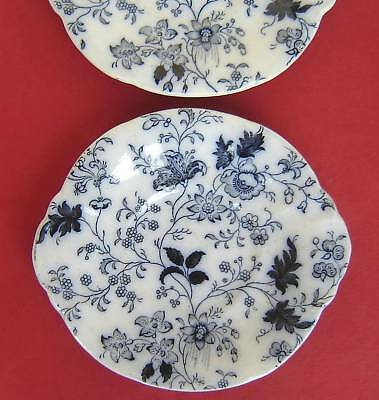 Two Pearlware Childs Plates Flow Blue c1840